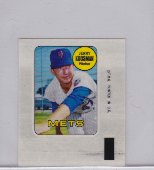 1969 Topps Decals #22 Jerry Koosman