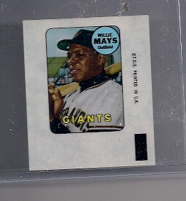 1969 Topps Decals #24 Willie Mays