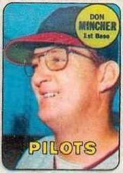1969 Topps Decals #30 Don Mincher