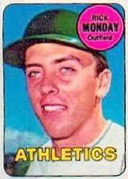 1969 Topps Decals #31 Rick Monday