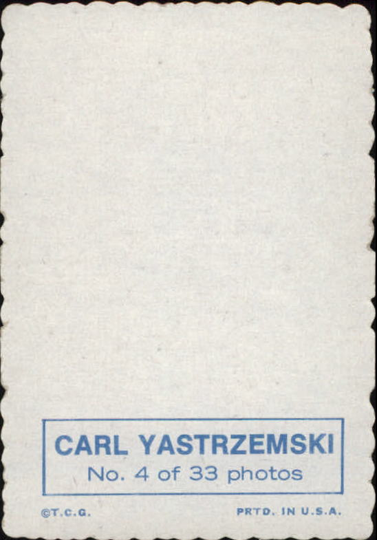 1969 Topps Deckle Edge #4 Carl Yastrzemski back image
