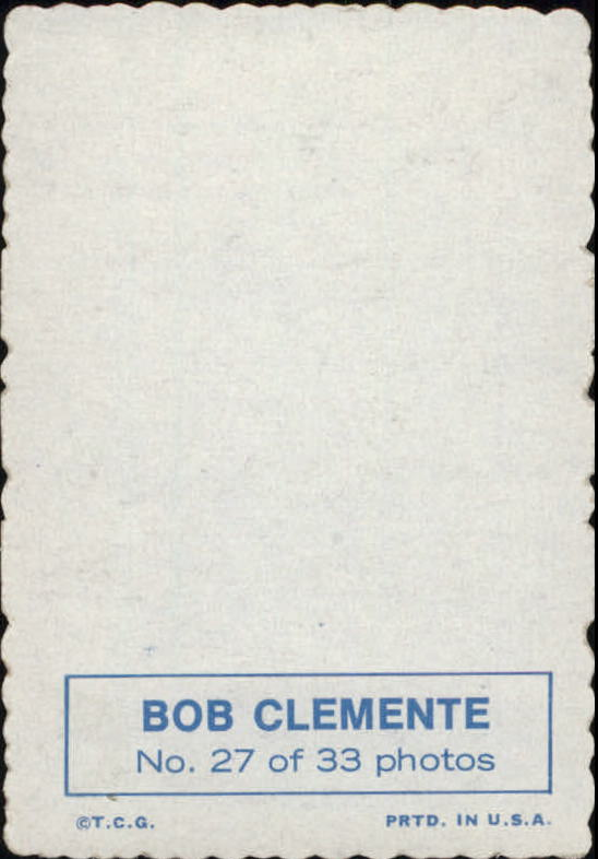 1969 Topps Deckle Edge #27 Roberto Clemente