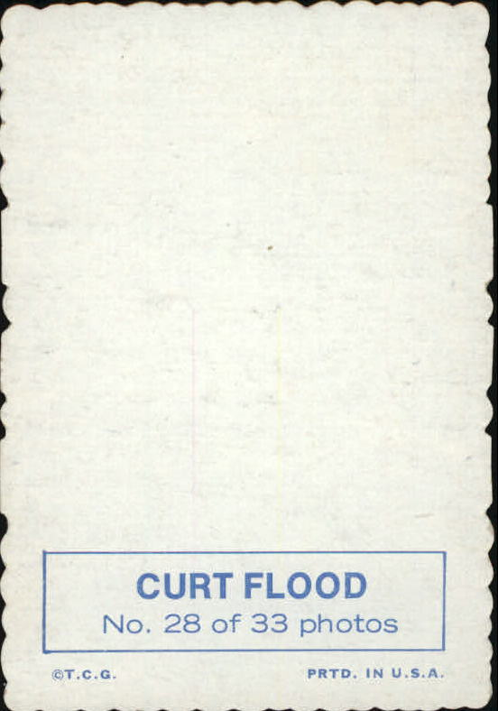 1969 Topps Deckle Edge #28 Curt Flood
