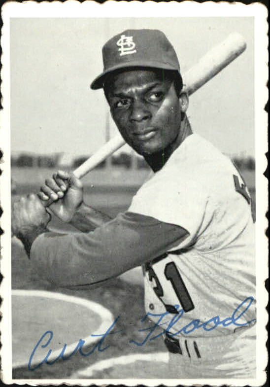 1969 Topps Deckle Edge #28 Curt Flood front image