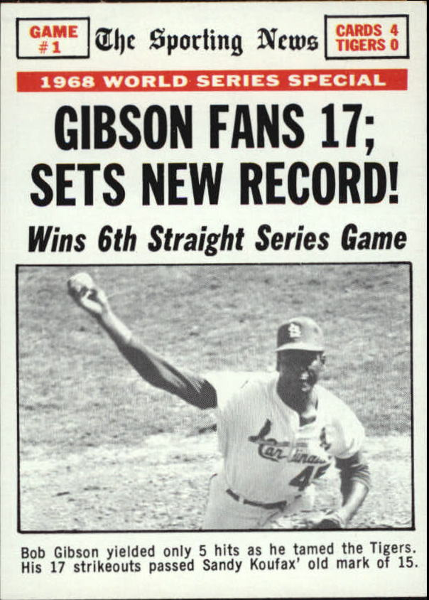 1969 Topps #162 World Series Game 1/Bob Gibson
