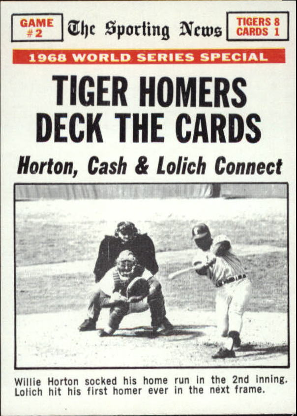 1969 Topps #163 World Series Game 2/Willie Horton