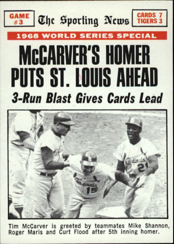 1969 Topps #164 World Series Game 3/Tim McCarver/w/Maris