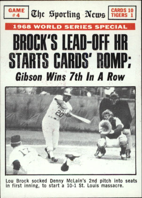 1969 Topps #165 World Series Game 4/Lou Brock