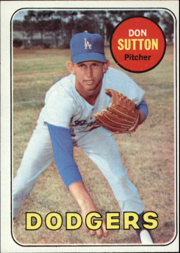 1969 Topps #216 Don Sutton DP
