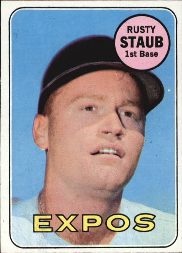 1969 Topps #230 Rusty Staub UER (Houston misspelled Huoston for 1966 Stats)