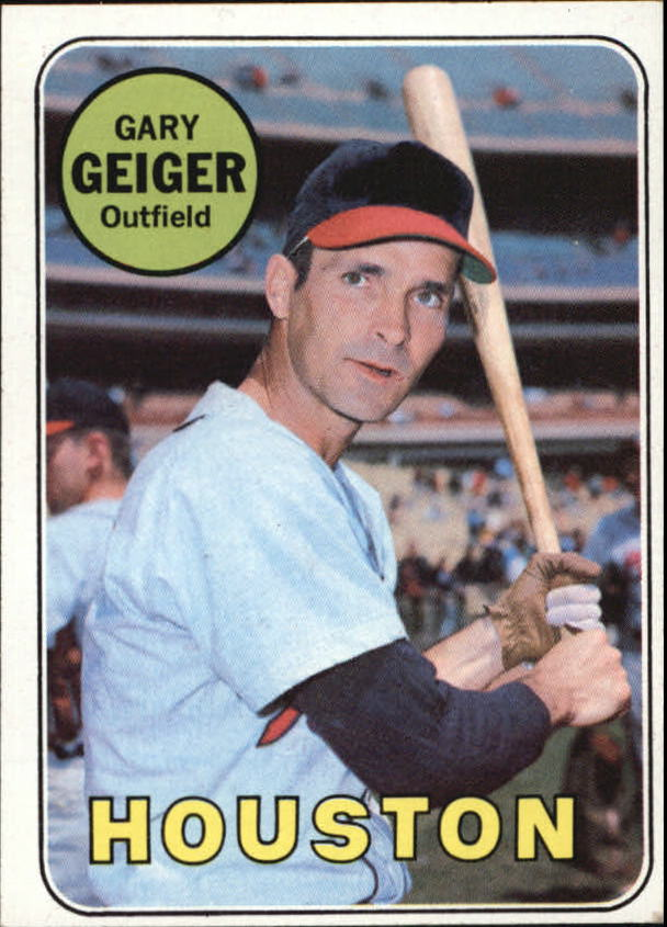 1969 Topps #278 Gary Geiger UER (Batting Wrong)