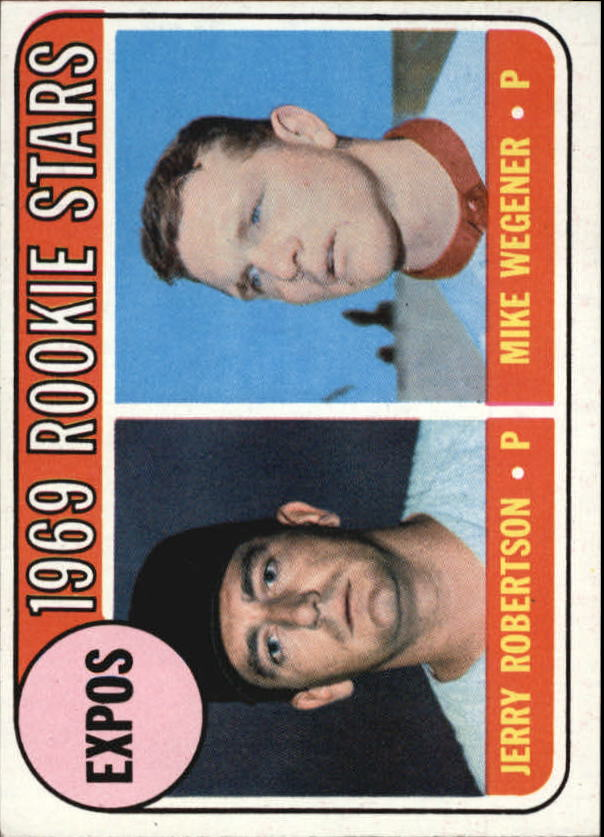 1969 Topps #284 Rookie Stars/Jerry Robertson RC/Mike Wegener RC