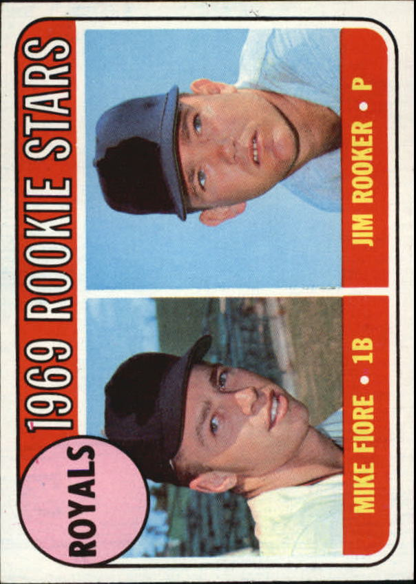 1969 Topps #376 Rookie Stars/Mike Fiore RC/Jim Rooker RC