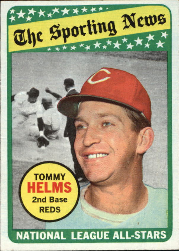 1969 Topps #418 Tommy Helms AS