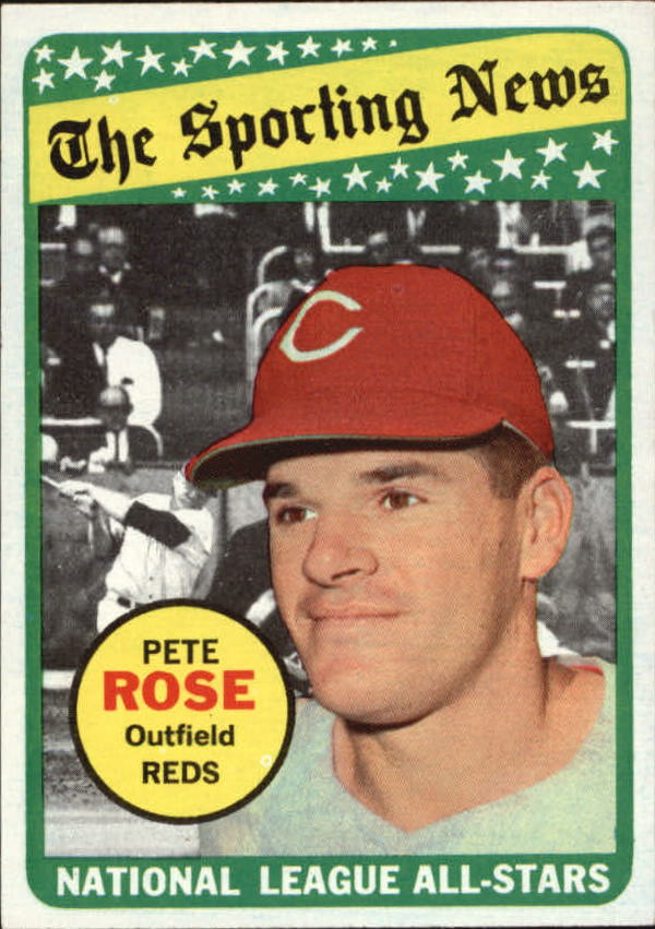 1969 Topps #424 Pete Rose AS