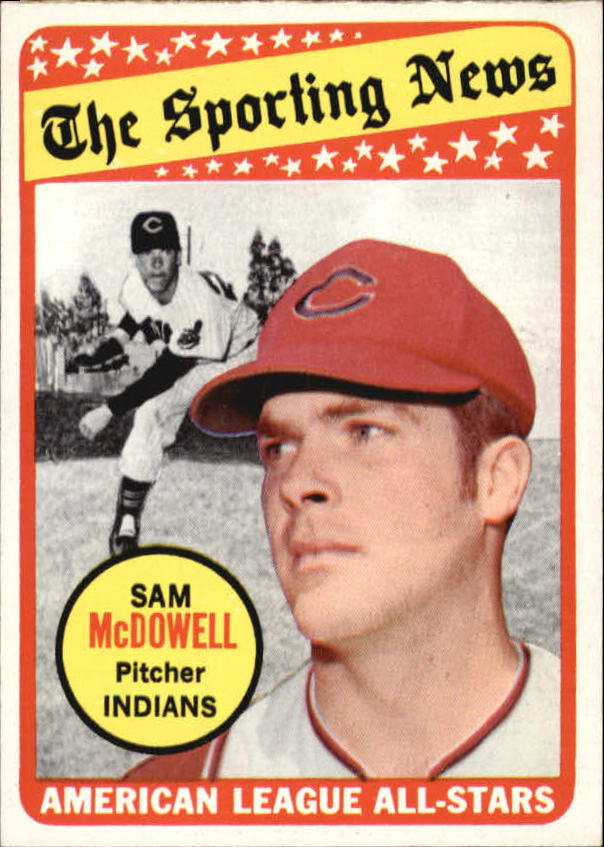 1969 Topps #435 Sam McDowell AS