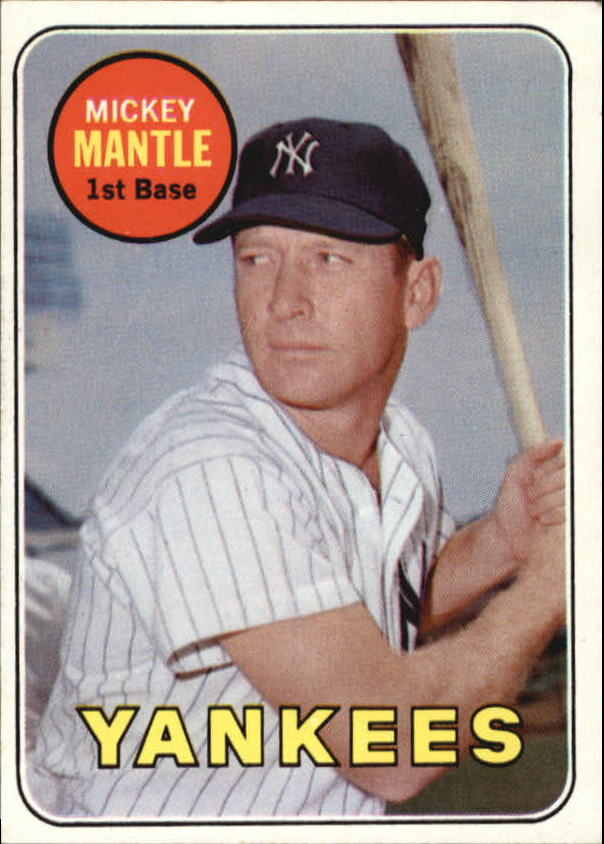1969 Topps #500A Mickey Mantle UER (No Topps Copyright on Back)