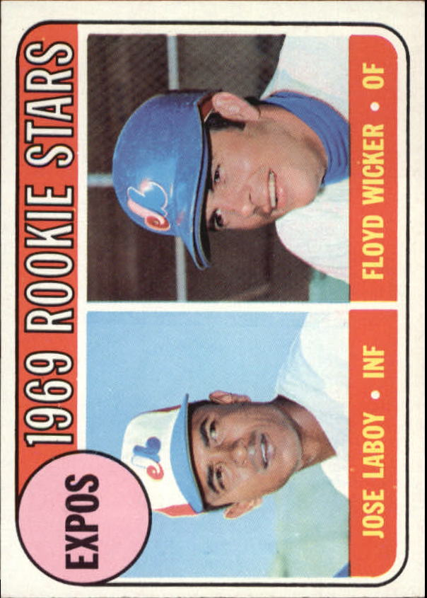 1969 Topps #524 Rookie Stars/Jose Laboy RC/Floyd Wicker RC