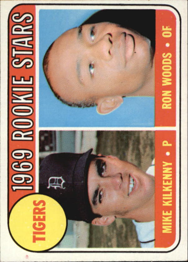 1969 Topps #544 Rookie Stars/Mike Kilkenny RC/Ron Woods RC