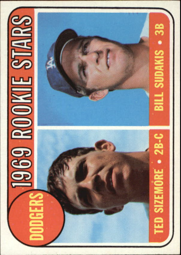 1969 Topps #552 Rookie Stars/Ted Sizemore RC/Bill Sudakis RC