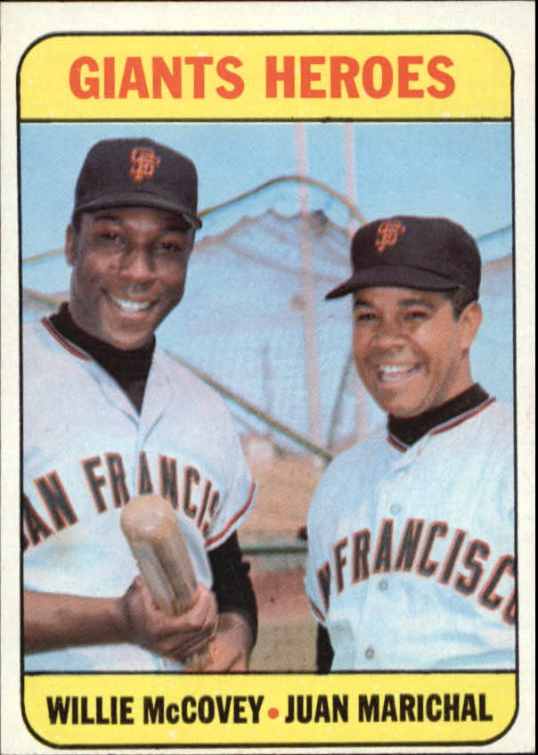 1969 Topps #572 Giants Heroes/Willie McCovey/Juan Marichal