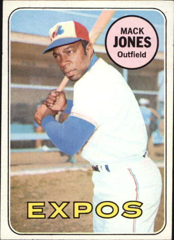 1969 Topps #625 Mack Jones UER/Batting wrong