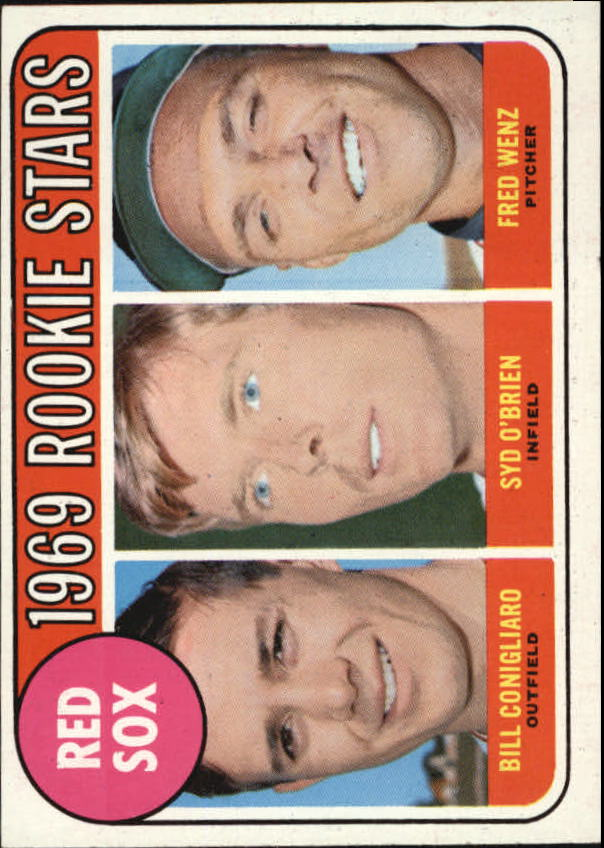 1969 Topps #628 Rookie Stars/Bill Conigliaro RC/Syd O'Brien RC/Fred Wenz RC