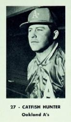 1970 A's Black and White #13 Catfish Hunter