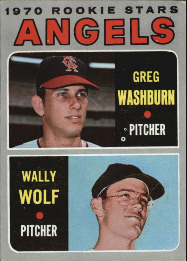 1970 Topps #74 Rookie Stars/Greg Washburn RC/Wally Wolf