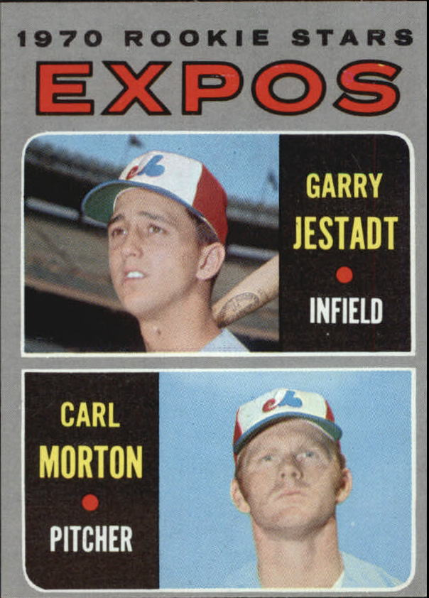 1970 Topps #109 Rookie Stars/Garry Jestadt RC/Carl Morton