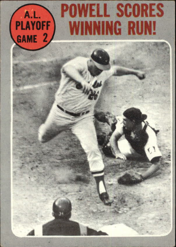 1970 Topps #200 AL Playoff Game 2/Boog Powell