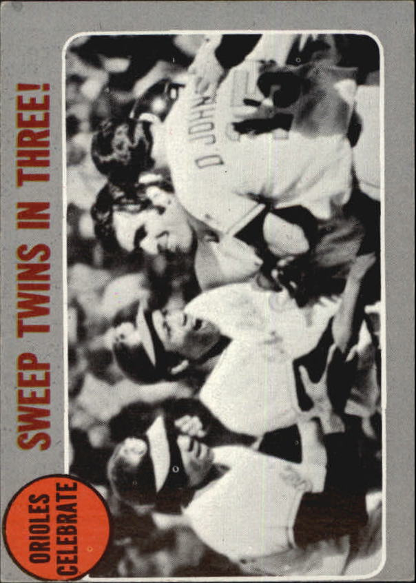 1970 Topps #202 AL Playoff Summary/Orioles Celebrate