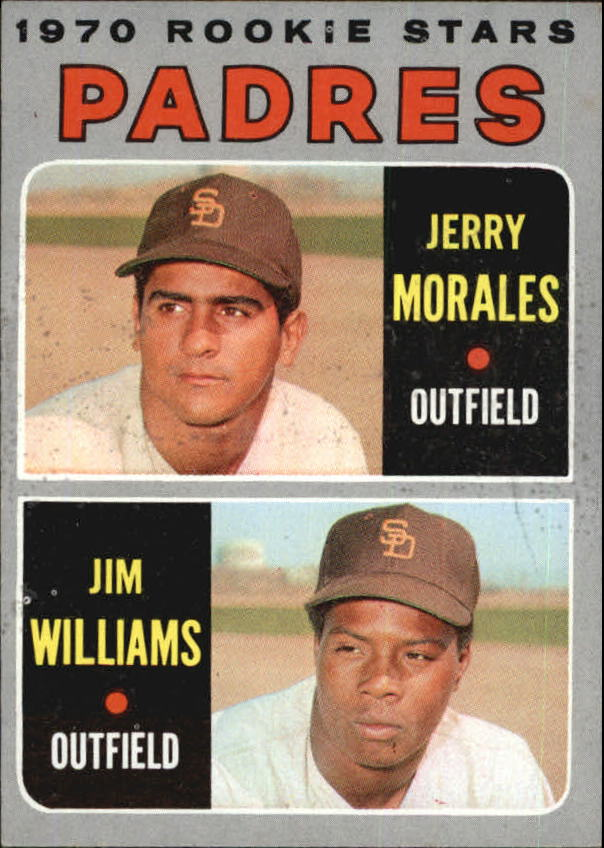 1970 Topps #262 Rookie Stars/Jerry Morales RC/Jim Williams RC