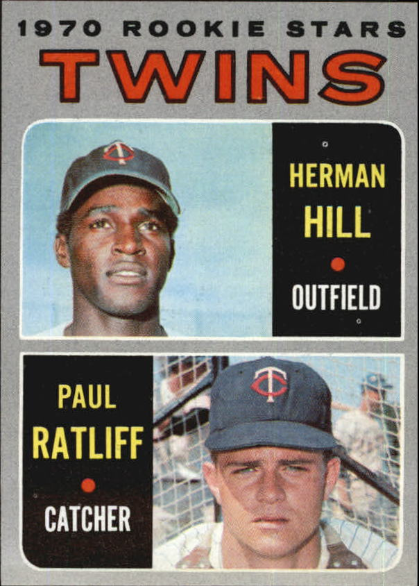 1970 Topps #267 Rookie Stars/Herman Hill RC/Paul Ratliff