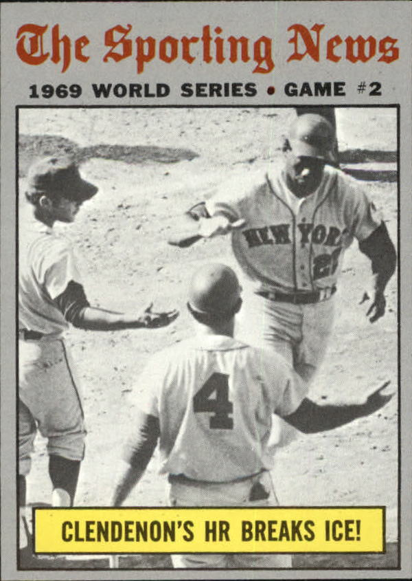 1970 Topps #306 World Series Game 2/Donn Clendenon