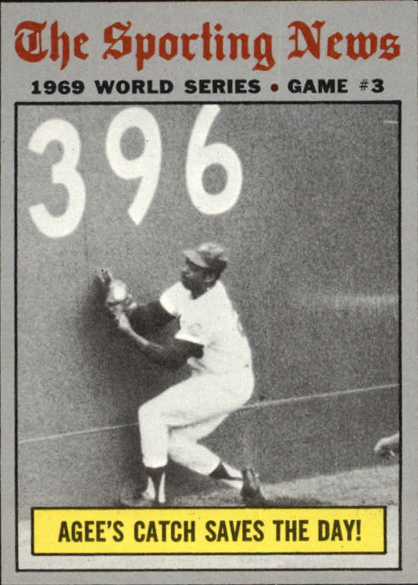 1970 Topps #307 World Series Game 3/Tommie Agee