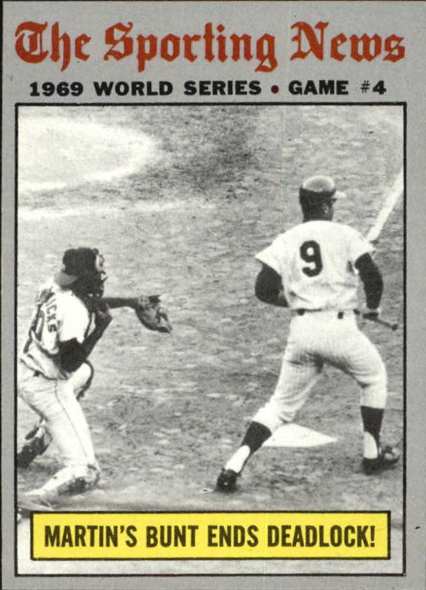 1970 Topps #308 World Series Game 4/J.C. Martin