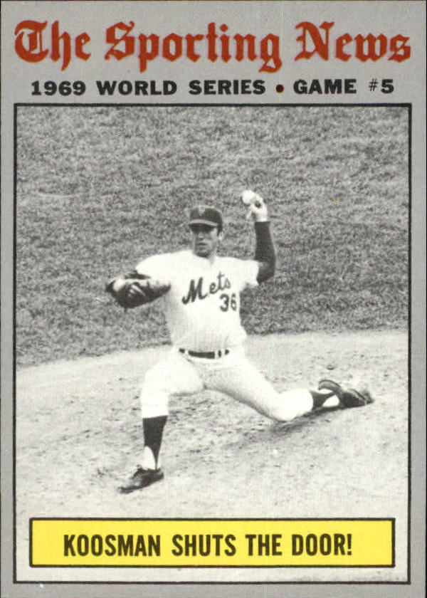 1970 Topps #309 World Series Game 5/Jerry Koosman