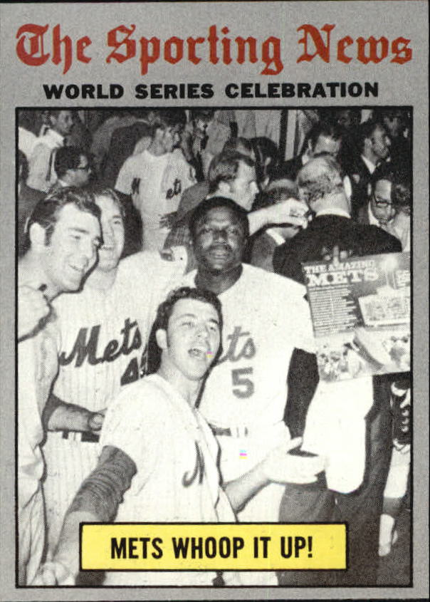 1970 Topps #310 World Series Summary/Mets Whoop it Up