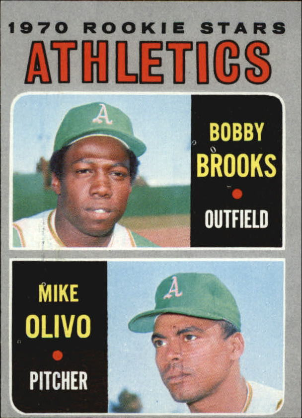 1970 Topps #381 Rookie Stars/Bobby Brooks RC/Mike Olivo RC