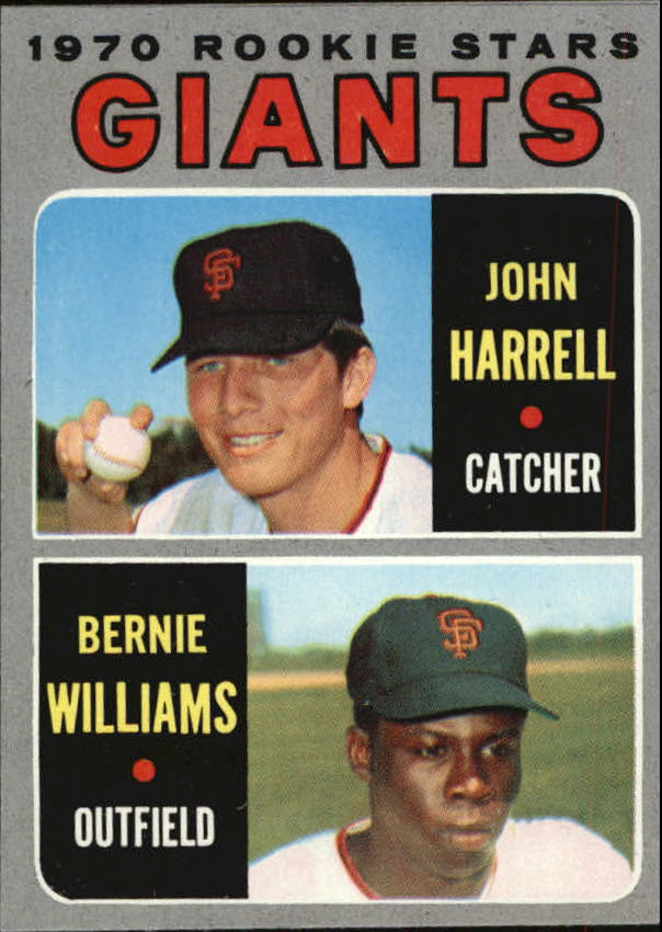 1970 Topps #401 Rookie Stars/John Harrell RC/Bernie Williams RC
