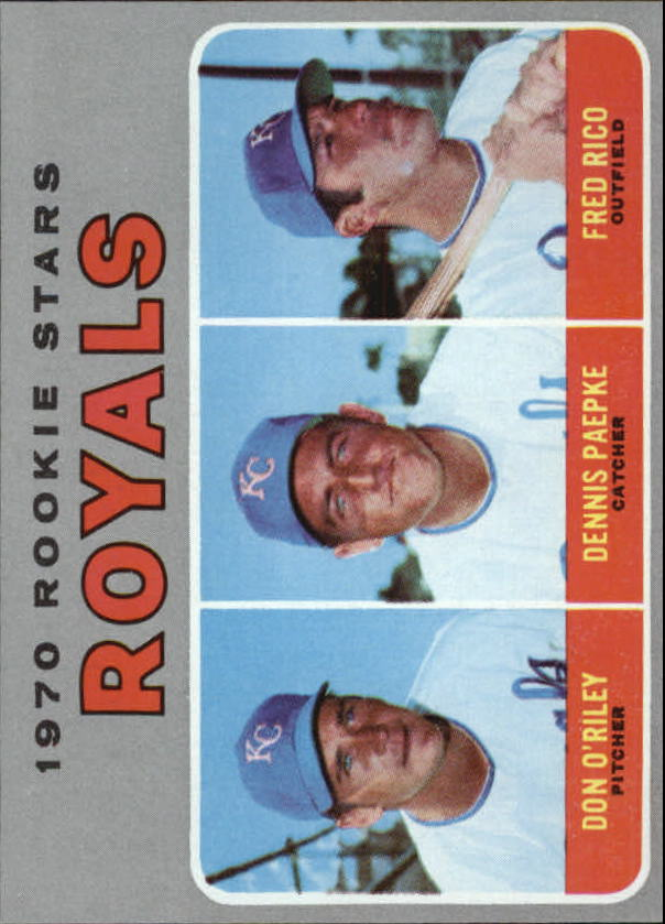 1970 Topps #552 Rookie Stars/Don O'Riley RC/Dennis Paepke RC/Fred Rico RC
