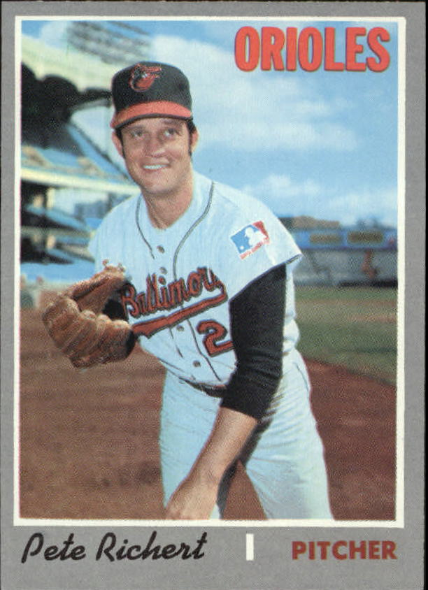 1970 Topps #601 Pete Richert