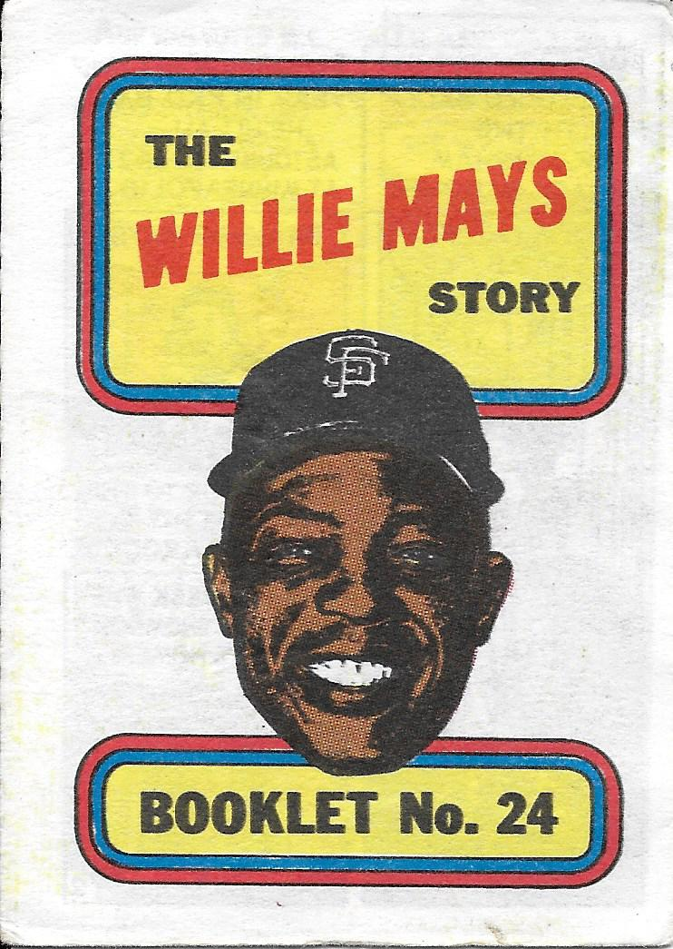 1970 Topps Booklets #24 Willie Mays