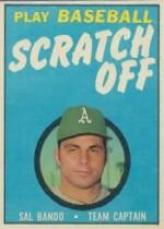 1970 Topps Scratchoffs #4 Sal Bando