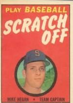 1970 Topps Scratchoffs #8 Mike Hegan