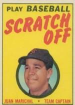 1970 Topps Scratchoffs #12 Juan Marichal