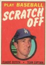 1970 Topps Scratchoffs #15 Claude Osteen
