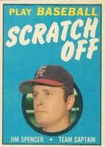 1970 Topps Scratchoffs #20 Jim Spencer