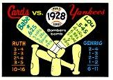 1970 Fleer Laughlin World Series Blue Backs #25 1928 Yankees/Cardinals/(Babe Ruth/and Lou Gehrig front image
